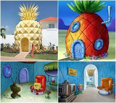 La piña de Bob Esponja - Es un módulo de hotel para toda la familia que incluye dos habitaciones, tres baños, un comedor y un Gary. Se encuentra en Punta Cana, República Dominicana y es parte de un resort de Nickelodeon inspirado en Fondo de Bikini
