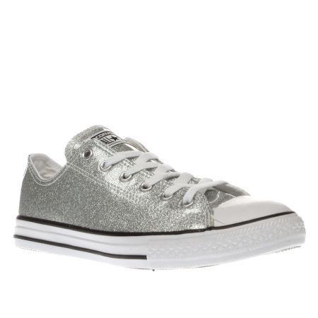 kids converse silver all star ox glitter girls youth