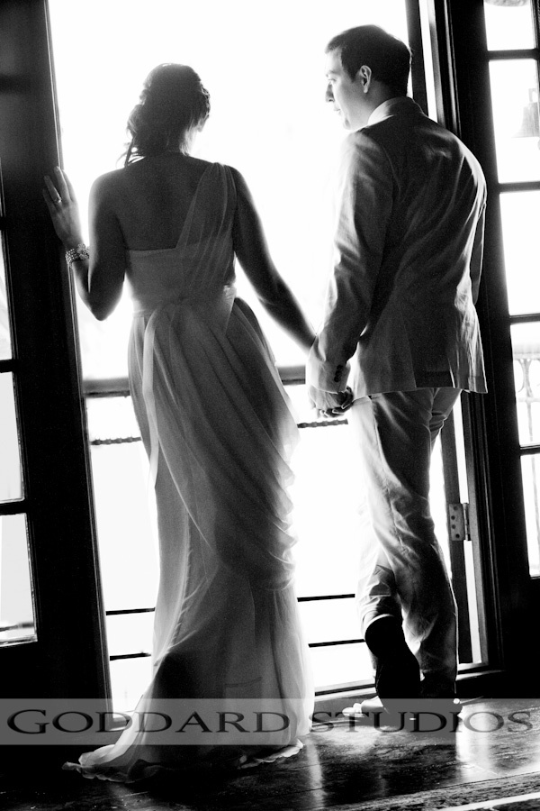 The bride and groom, having a moment to themselves.