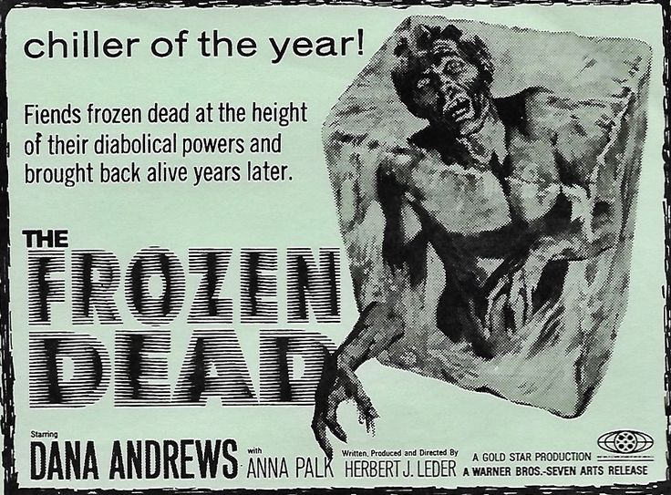 THE FROZEN DEAD 1966 ad