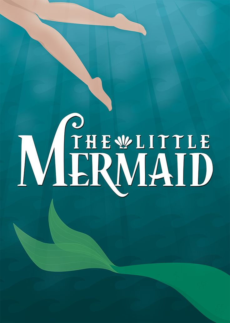 The Little Mermaid, Minimalist Poster Going to see this at The Fox on Saturday!!!! @stacelynn