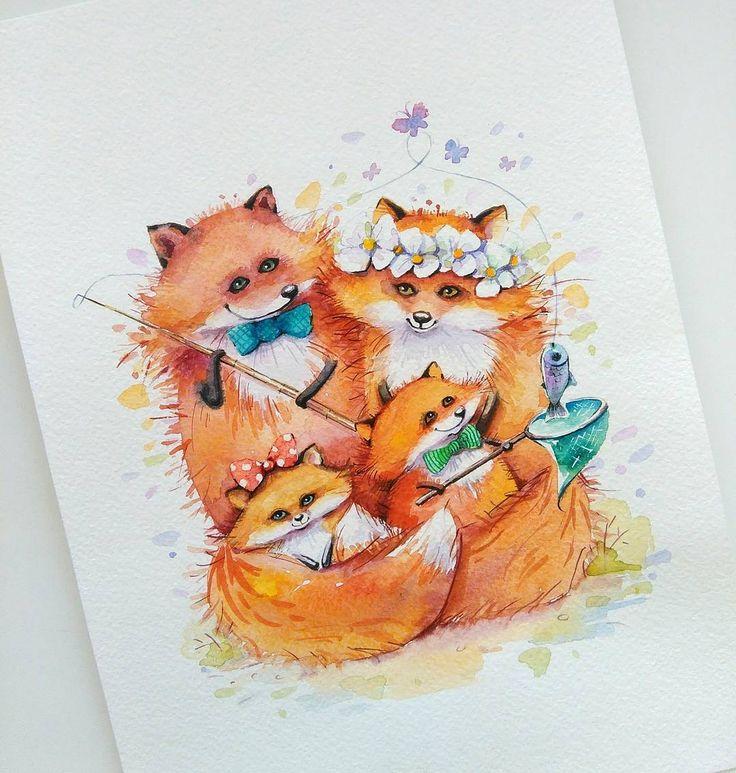 Семейные портреты бывают разные)) иллюстрация выполнена на заказ