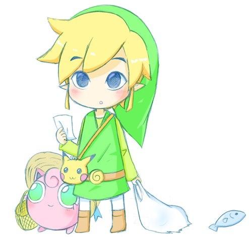 The Legend of Zelda × Pokemon: Link, Pikachu, Jigglypuff