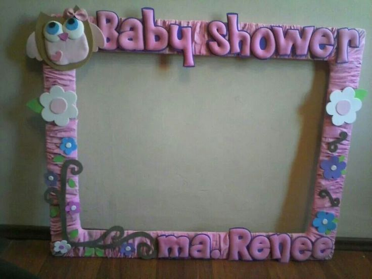 baby shower de party decoration details marco para fotos