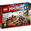 Lego Ninjago: Ninja Bike Chase (70600) 70600 Chase down Sqiffy with Nya and Kai! Target the sky pirate™s flyer with Kai™s bike™s hidden cannons/boosters. Dodge the flyer™s bombs and aim the elemental water cannon from Nya™s awesome bike. Take hi http://www.MightGet.com/january-2017-11/lego-ninjago-ninja-bike-chase-70600-70600.asp