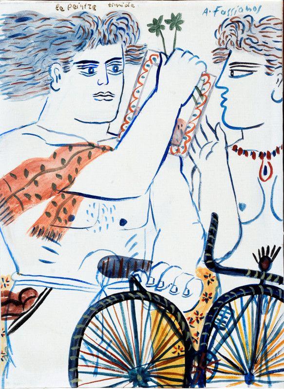 .:. Le peintre timide ALECOSFASSIANOS Born in athens, in 1935.