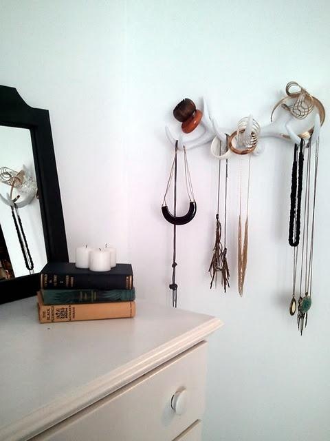 #DIY antler jewelry rack.