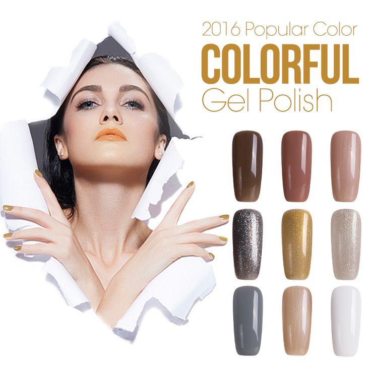 Azure 12ML 1Pcs Nail Gel Polish Gel Long-lasting Shining Colorful Soak-off Gel Nail LED UV Nail Varnish Newest Nail Gel Lacquer