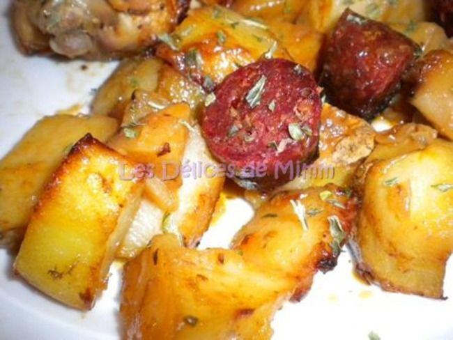 Poulet espagnol au chorizo et aux pommes de terre de nigella