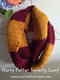 Maria's Blue Crayon: Harry Potter Infinity Scarf Crochet Pattern