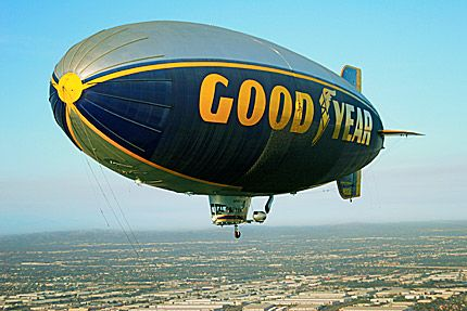 Ride the Goodyear Blimp.................... the classic one