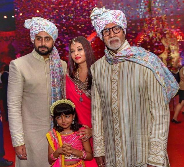 The Bachchan Family. Abhishek, Aishwarya, Amitabh and Aaradhya