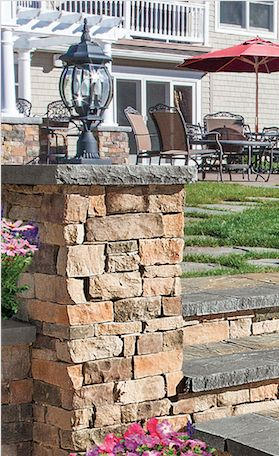 Complete your backyard. A Cambridge column kit with light is the perfect addition to any backyard.
