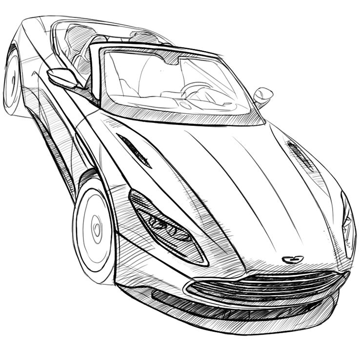 Aston Martin Sketch: Aston Martin Db11 Volante Sketch By Baaam7991