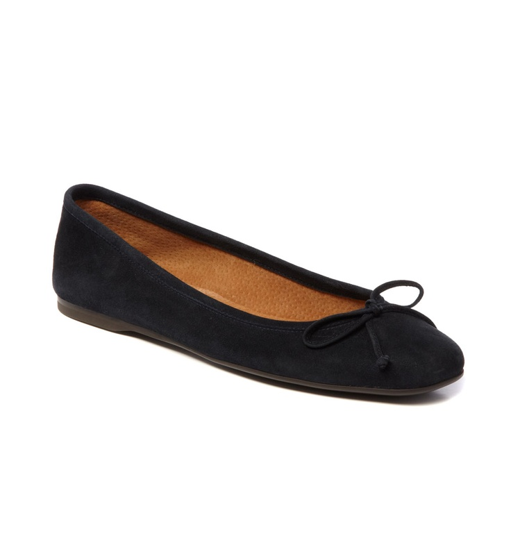 Hobbs Prior Square Toe Ballerina - Navy