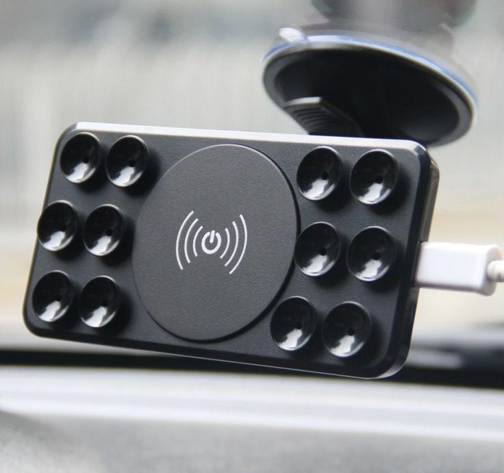 Беспроводная зарядка для телефона в авто. На присосках