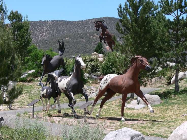 Hubbard Museum, Ruidoso, NM - These life like full size horse sculptures are an impressive sight as you approach the museum.
