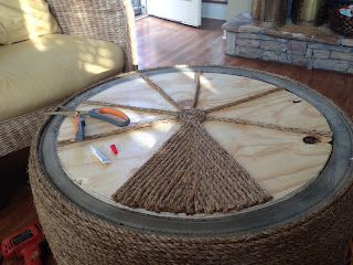 Old Tire Ottoman...this is a great tutorial. Check out the finished product on the website.