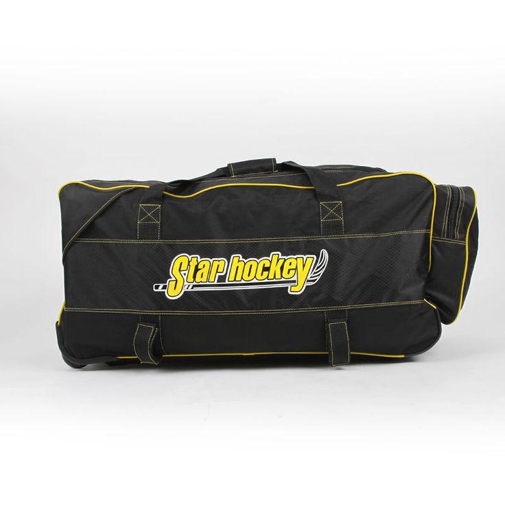 Darmowa wysyłka hokej na lodzie torba torba na sprzęt oversize trolley bag czarny kolor M rozmiar 77x40x40 cm