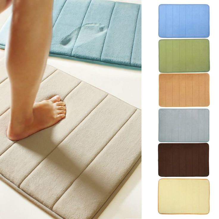 Elifestore Bathroom Shower Bath Mat - Microfibre Memory Foam baby kid child bath mat sets Stripe Anti Slip Design Grey for Safety and Graceful Decoration - 40*60CM Brown: Amazon.co.uk: Kitchen & Home