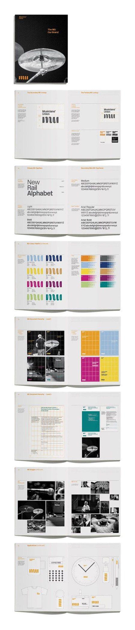 Musicians' Union logo Brand guidelines, Brand book