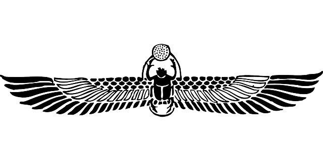 Gratis vektorgrafik: Bevingade Skarabé - Gratis bild på Pixabay - 32654