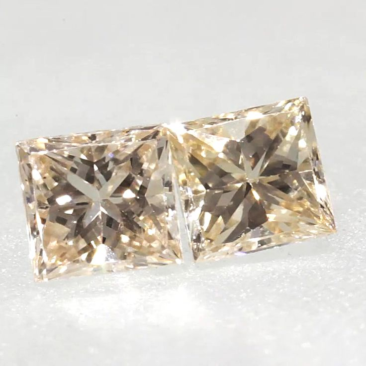0.04 ctw Champagne -C3 VS1 Clarity 1.91x1.79x1.29 mm Princess Cut Loose Diamond