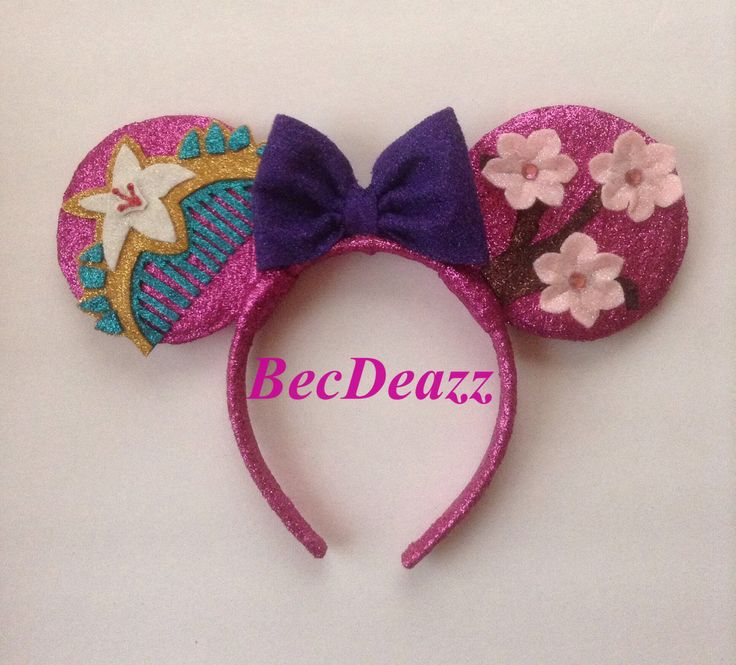 Mulan inspired Minnie Mouse ears headband