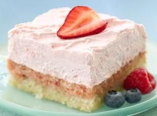 DIABETIC-FRIENDLY EASY STRAWBERRY CREAM SQUARES Recipe | Just A Pinch Recipes