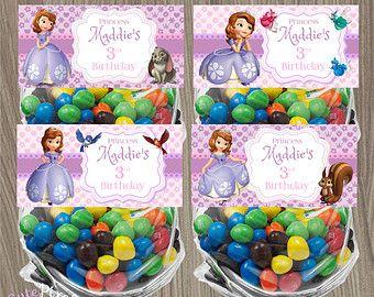 Prinses Sofia Bag Toppers, Sofia de eerste tas Toppers, behandelen tas, Prinses Sofia, Sofia verjaardag, Sofia partij