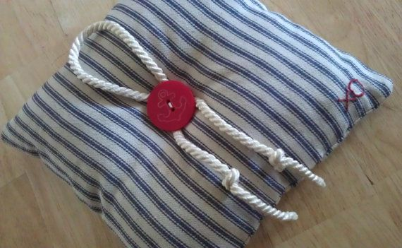 Nautical Wedding ring bearer pillow by TellableDesign on Etsy, $34.99