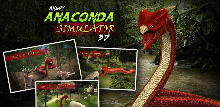 Become a vicious python or #angryanaconda and slay your victims. Slither through the lush green rain forest and make your prey the victim of your #snakebite with #angrysnake attack #3dgame. Play as deadly snake in #AngryAnacondaSimulator3D . Install now Hunt down & fight against the largest collection of wild animals and humans as your foes.  https://play.google.com/store/apps/details?id=com.gamezgarage.angry.anaconda.simulator