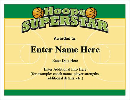 23 best certificates images on pinterest award certificates hoops superstar certificate the basketball award certificate that leaves players coaches and team parents with stylish keepsakes yadclub Choice Image