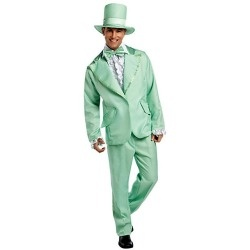 Adult Men's Funky Green Tuxedo Adult Costume www.grabevery.com