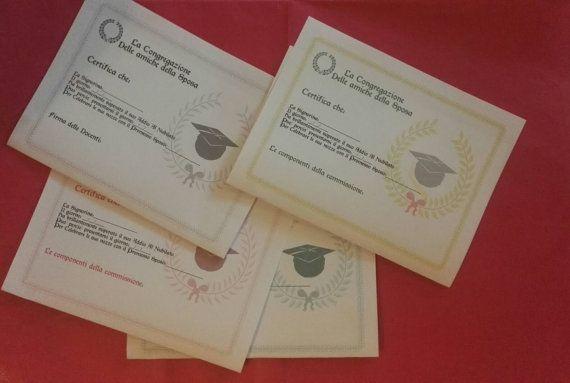 Certificato ! Per addio al nubilato!  Perfetto per essere usato come biglietto di auguri!