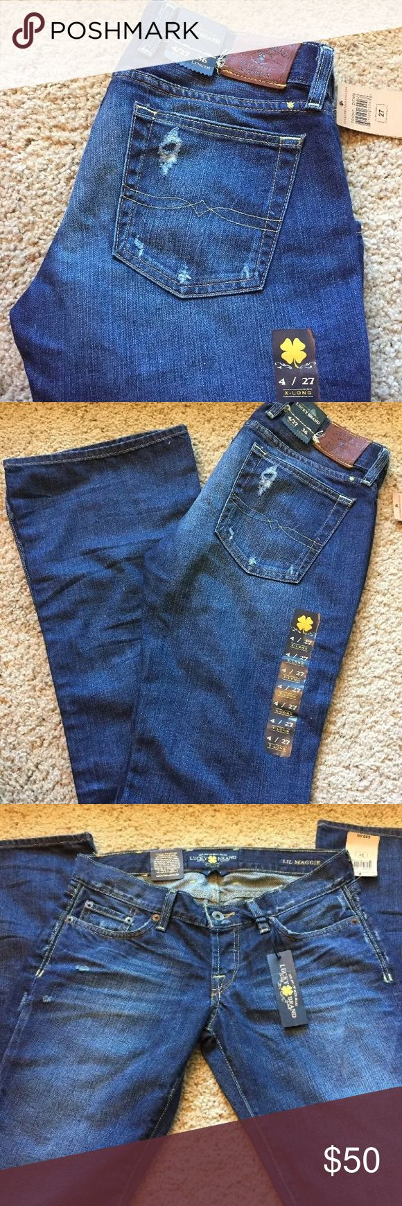 Lucky Brand Lil Maggie Women's Jeans Extra Long NWT! These are extra long, 36 inch inseam. 27inch waist per the description on the tags. Flare leg, related fit, low waist. Lucky Brand Jeans Flare & Wide Leg