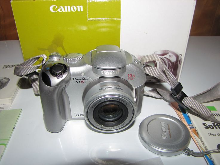 Canon PowerShot S1 IS Digital Camera 32 MP 10X Optical Zoom NEEDS REPAIRS