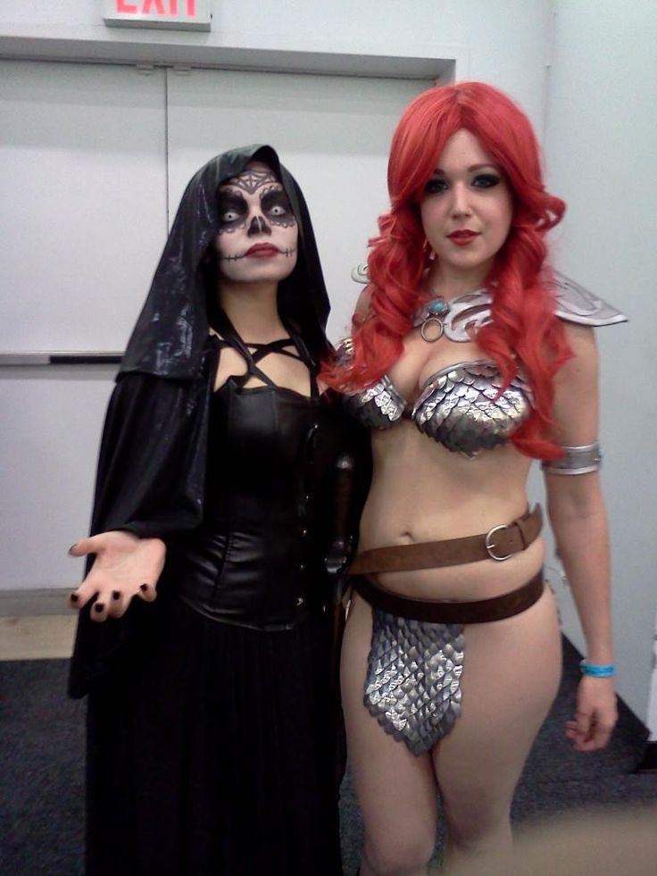 Red Sonja and Mistress Death (me)~! | Death and Deadpool Cosplay ... X 23 Costume