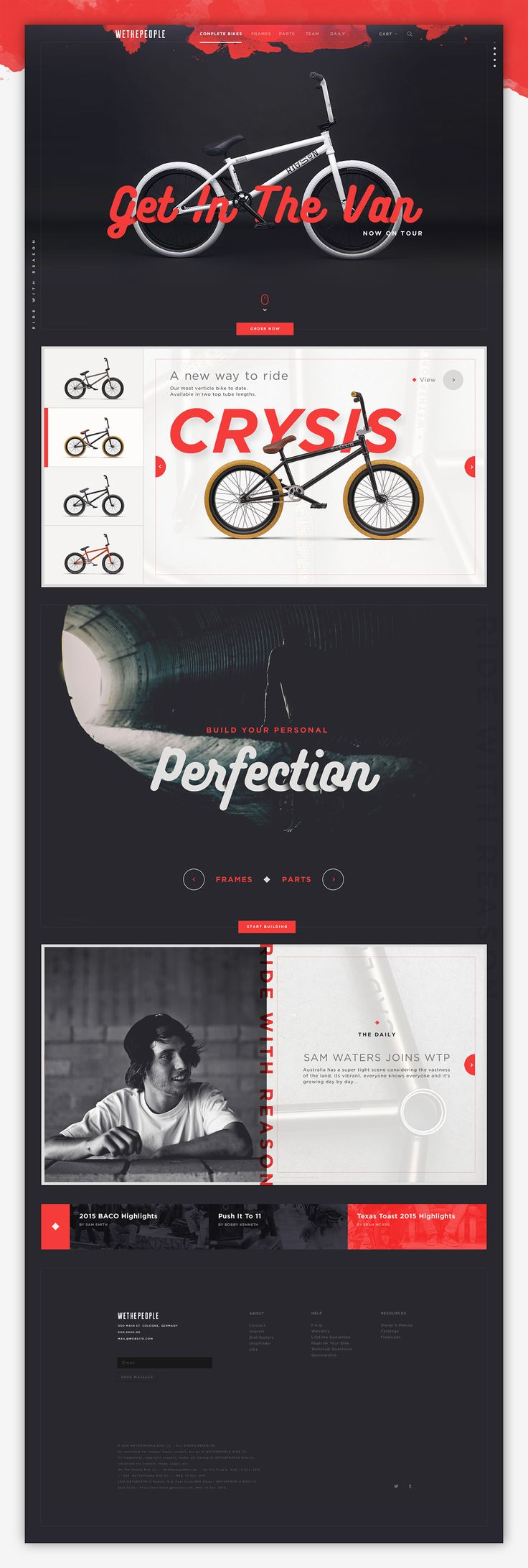 WTP Bmx bike website design.