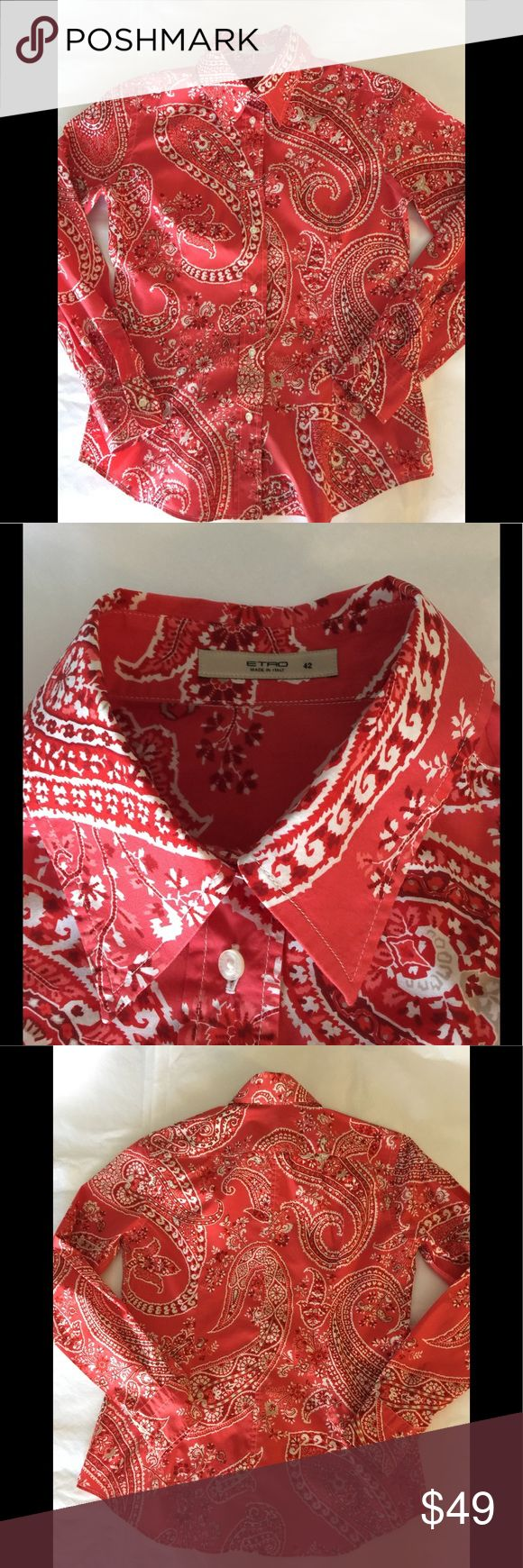ETRO Italy lady's button down shirts size 42 Paisley button down shirts size 42 Like brand new  Very good condition Etro Tops Button Down Shirts