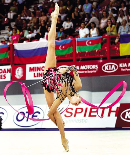 Gymnasts n Russia & Europe typically start training at a very young age & those at their peak r typically n their late teens (15–19) or early twenties. The largest events in the sport are the Olympic Games, World Championships, World Cup & Grand-Prix Tournaments.  Source: http://www.ikgymnastics.com/