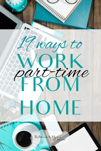 Awesome list of part-time work from home jobs and where to find them