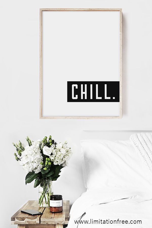 Chill Print Minimalist Decor Minimalist Home Decor Minimalist Living Room