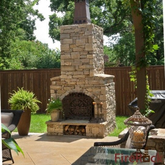 Outdoor Stone Fireplace For Sale | FireRock Outdoor Fireplace Kit