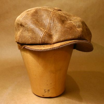 Stetson Burney Leather Cap in the group Men / Hats & caps at Sivletto (w4160)