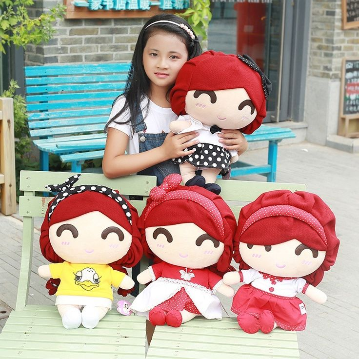 31.83$  Buy here - http://di73y.justgood.pw/ali/go.php?t=32753900795 - New Coming 45x29x21Cm 1 Pc Lovely Girl Plush Toy Doll Cute Pillow Doll 2016 Hot Sale 4 Styles Girl Christmas Birthday Gift 31.83$