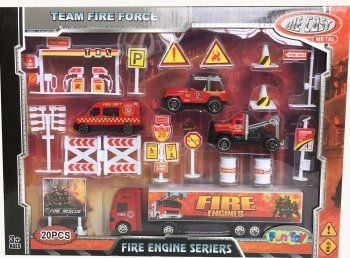 Набор  пожарной техники - Купить наборы спецтехники, набор ферма, набор пожарная машина для детей по низким ценам - Интернет-магазин игрушек Головастик