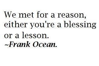 blessing or a lesson
