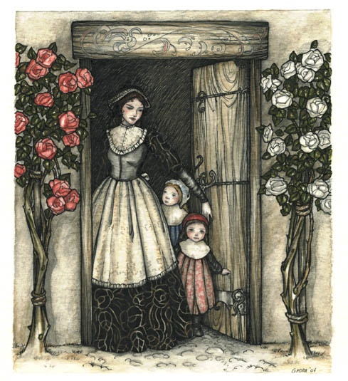 Snow White & Rose Red. Another favorite fairy tale. The sisters meet a bear who is really - what else? - a prince under a magic spell.