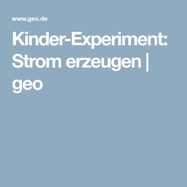 Kinder-Experiment: Strom erzeugen   geo